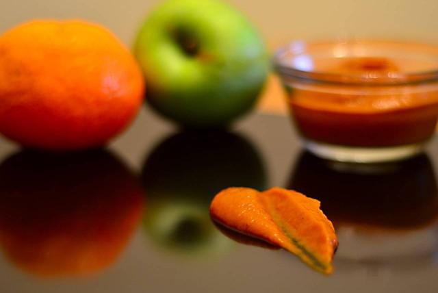 זיגוג תפוחים ותפוז לבשר